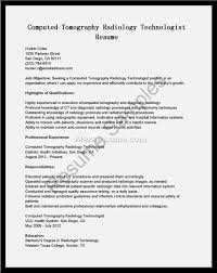 Ct Tech Resume Cover Letter Radiologic Technologist Resume Examples Radiologic