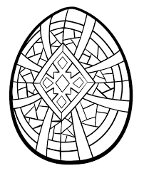 easter egg coloring pages printable an urdee cross or simplified