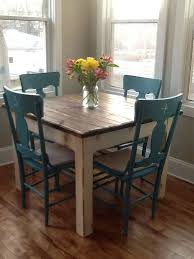 distressed kitchen table and chairs beautiful primitive distressed rustic dark walnut stain country
