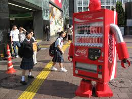 coca cola halloween horror nights 2016 japanese vending machine robot funny advertising