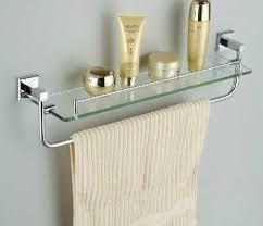 Chrome Bathroom Shelves by Using Glass Shelves For Bathroom For Decoration Bathroom Ideas