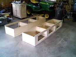 bedroom diy pallet bed frame with storage large concrete wall