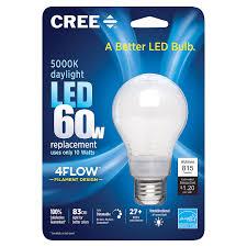 daylight led light bulbs cree ba19 08050omb 12de26 3 1 60w equivalent 5000k a19 led light
