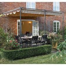 Pergola Awning Retractable by Garden Steel Wall Mount Retractable Canopy Patio Yard Pergola