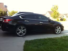 grey nissan altima black rims 20