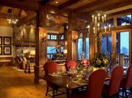 Ski Lodge Interior Design Warm U0026 Cozy Rustic Dining Room Designs For Your Cabin