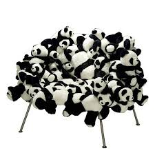 Really Cool Chairs Panda Chair Made Out Of Pandas Geekologie
