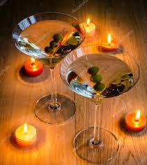 martini photography two olive martini cocktails in the candlelight u2014 stock photo