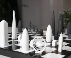 cool skyline chess set walyou