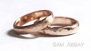 ring wedding hammered bands new york wedding ring