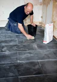 slate flooring for an house kitchen