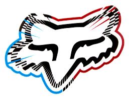 fox motocross stickers fox sticker spiked red maciag offroad