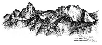 mountain sketch clipart china cps