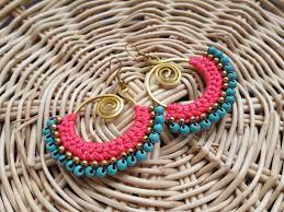 thailand earrings macrame earring thai handmade earring summer discovered