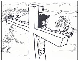 coloring pages jesus cross coloring pages