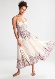 maxi kjoler free be my baby maxikjoler ivory combo dame kjoler d