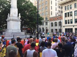 hundreds turn out at rally against augusta confederate monument