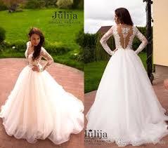 vintage lace long sleeves wedding dresses deep v neck