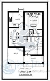 Home Design For Rectangular Plot 1436 Sq Ft Double Floor Home Plan 3 Cent Plot