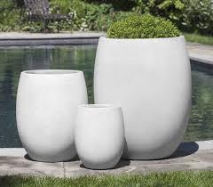 Large Concrete Planter | large round minimalist grey concrete planter set mnml living