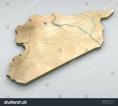 Homs Syria Map by Syria Map Physical Map Hand Drawn Stock Illustration 365960330