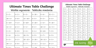 ks1 ultimate times tables challenge activity sheet