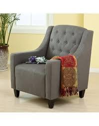 Linen Club Chair Grey Linen Club Chair U0026 Footstool Set