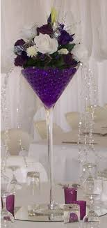 martini glass vases for centerpieces wedding reception