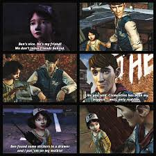 Walking Dead Meme Season 1 - ben paul s and clementine s relationship all during twdg season 1