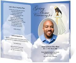 memorial program templates obituary program template downloadable funeral bulletin covers