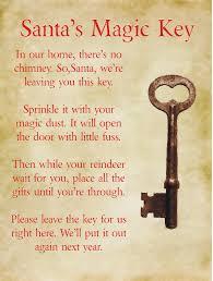 santa key no chimney no problem this free printable poem will turn any key