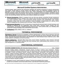 sample resume for system administrator system administrator sample resume