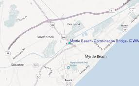 tide table myrtle beach myrtle beach combination bridge icww south carolina tide station
