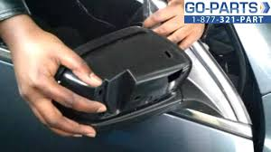 replace 2003 2007 honda accord side rear view mirror how to