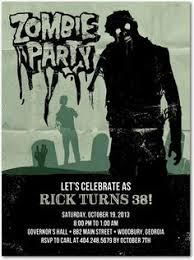 free printable zombies party invitation zombies pinterest
