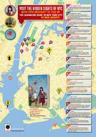 Wall Map Of New York City by Visit The Hidden Sights Of Nyc Brought To You By The Shambling