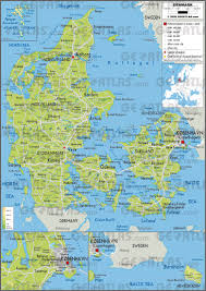 Germany Physical Map by Geoatlas Countries Denmark Map City Illustrator Fully