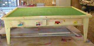 Build Your Child Their Own Wooden Train Table From Free Plans Online