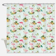 Flamingo Shower Curtains Retro Flamingo Shower Curtains Cafepress