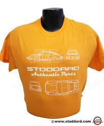 stoddard porsche 911 parts tig 911 00 stoddard authentic parts t shirt 911 design signal orange