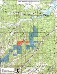 Utah Parcel Map by Lake Canyon Dwr Property Trust Lands Administration