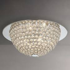 Moon Ceiling Light Lewis Moon Semi Flush Ceiling Light Silver Clear At Lewis