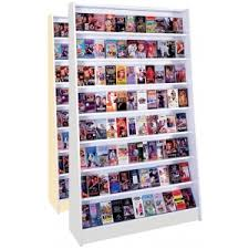 hq 8 shelf single sided starter wood dvd wall fixture display unit