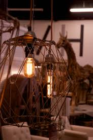 Single Light Chandelier Industrial Wire Cage Single Bulb Chandelier Vintage Home Warehouse
