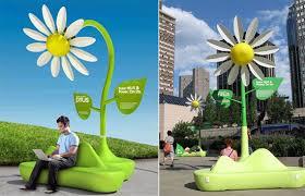 flowers wi toyota plants solar powered free wi fi flowers