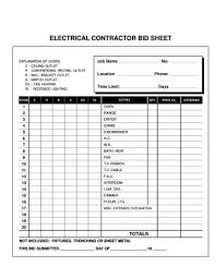 Hvac Estimate Template by Estimate Template Fill Printable Fillable Blank