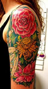 23 best flower quarter sleeve tattoo images on pinterest quarter
