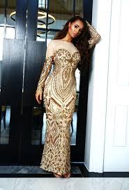 beautiful dress premium beyond beautiful gold sequin sleeve maxi dress pink