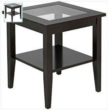 dark wood side table ashcroft dark wood veneer end table with glass amazon co uk
