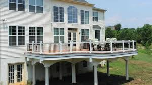 custom deck construction how to waterproof a deck youtube